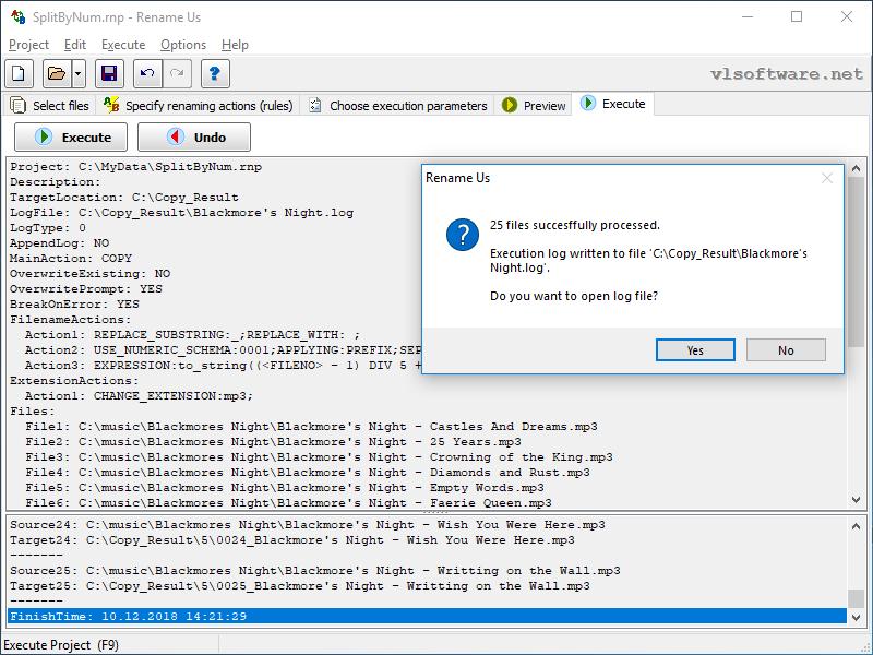 Batch File Renaming in Screenshots - Rename Us